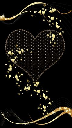 Wallpaper… By Artist Unknown… - Handy Hintergrund Gold Wallpaper Phone, Heart Wallpaper, Butterfly Wallpaper, Trendy Wallpaper, Love Wallpaper, Pretty Wallpapers, Cellphone Wallpaper, Galaxy Wallpaper, Wallpaper Backgrounds