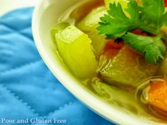 Gluten Free Cooked Watermelon Rind Soup