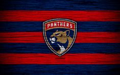 Download wallpapers Florida Panthers, 4k, NHL, hockey club, Eastern Conference, USA, logo, wooden texture, hockey, Atlantic Division