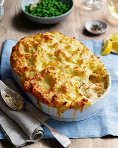 Our creamy, smoky and indulgent take on classic fish pie is deceptively easy to make. While you're at it, double up to make two and freeze one Pie Recipes, Seafood Recipes, Cooking Recipes, Recipes Dinner, Holiday Recipes, Healthy Recipes, Creamy Fish Pie, Prawn Fish, Recipes