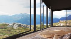 Shelter in the mountains. Norway. dotimages architectural visualisation
