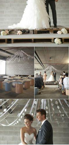 Industrial inspired wedding!