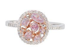 Pink Diamond Ring - The Three Graces