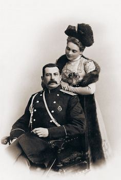 Count Felix Felixovich Sumarokov-Elston ( 1856 - 1928) his wife Princess Zinaida Nikolaievna Yusupova (1861–1939)