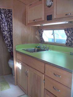 Solid green countertop