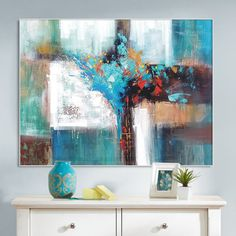 Hand Made Large Acrylic Painting On Canvas Abstract by ArtCAStudio