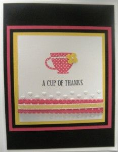 Stampin' Up! handmade card made with the Tea Shoppe stamp set