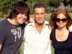 Valerie Bertinelli, ex-husband Eddie Van Halen and son Wolfgang Van Halen Wolfgang Van Halen, David Lee Roth, Greatest Rock Bands, Eddie Van Halen, Celebs, Celebrities, My Favorite Music, Celebrity Pictures, Music