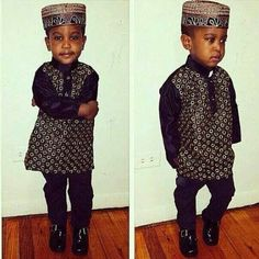Check this cutie pie out! ~African fashion, Ankara, kitenge, African women dresses, African prints, African men's fashion, Nigerian style, Ghanaian fashion ~DKK