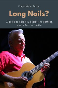 One of the most commonly asked questions about finger style is about nail length. In this article I go through all the different options! Play Guitar Chords, Learn To Play Guitar, Guitar Songs, Guitar Lessons For Beginners, Music Lessons, Teach Yourself Guitar, Fingerstyle Guitar Lessons, Nail Length, Singing Tips