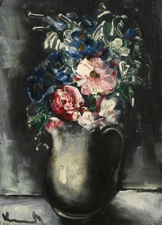 Flowers in a Jug, by Maurice de Vlaminck (French, 1876-1958),