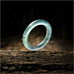 Fine Icy Jadeite Bangle – Jewelry And Accessories Jade Jewelry, Sea Glass Jewelry, Stone Jewelry, Jewelry Art, Diamond Jewelry, Jewelry Design, Fashion Jewelry, Fashion Fashion, Jewellery