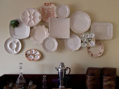 Plates as sculpture