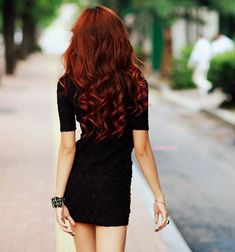 red and curly #hair #curly