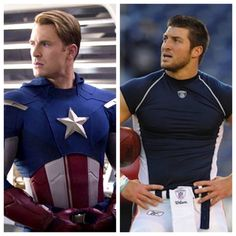 Tim Tebow and Captain America, long lost brothers?