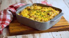 Dieser Knödelauflauf ist genau das richtige Rezept, wenn ihr noch ein paar Kartoffelknödel übrig habt. Probiert es aus! Tasty, Yummy Food, Macaroni And Cheese, Food And Drink, Veggies, Ethnic Recipes, Super, Gnocchi, Low Carb