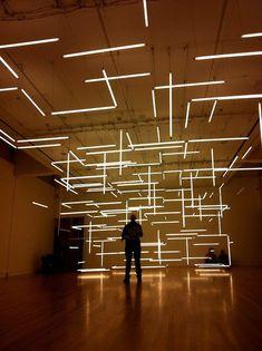 Audi Motor Show design concept. Stage Lighting, Neon Lighting, Lighting Design, Audi Motor, Light Art Installation, Installation Architecture, Vitrine Design, Fluorescent Tube Light, Nightclub Design