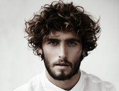 Curly Wavy Hair Men Hairstyles Best Style Beard White Shirt