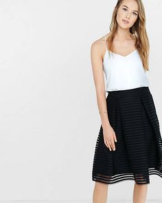 black mesh pleated midi skirt