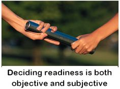 Readiness is a subjective decision that's hard to explain to your kids.  Click the image to read the article. Please share your thoughts.