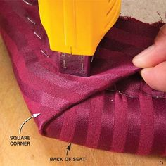 How to reupholster seats