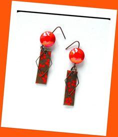 Cadeau Maîtresse/Boucles d'oreilles motifs fleurs/www.alittlemarket.com/boutique/bouclesdoreilles-h-angiari : Boucles d'oreille par boucles-d-oreilles-h-angiari