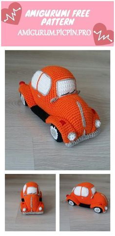 We continue to provide you with the latest recipes related to Amigurumi. Amigurumi classic car free crochet pattern is waiting for you. Crochet Toys, Free Crochet, Knit Crochet, Amigurumi Patterns, Crochet Patterns, Fun Arts And Crafts, Baby Toys, Free Pattern, Retro Vintage