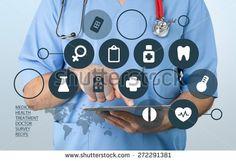 Doctor, medical, portal. - stock photo