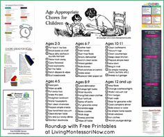 Montessori Monday - Age-Appropriate Chores for Children {Free Printables}