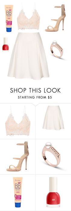 """Sans titre #6518"" by merveille67120 ❤ liked on Polyvore featuring Rime Arodaky, Giuseppe Zanotti and Rimmel"