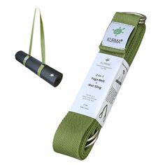 Yoga Belt + Mat Carry Sling 2-in-1