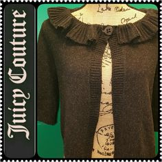 Juicy Couture Cardigan Juicy Couture Basic in Grayish Black Shade, Front One Button Closure, Material Blend of Wool & Nylon, Mint Condition Juicy Couture Sweaters Cardigans