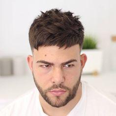 short textured crop haircut for men