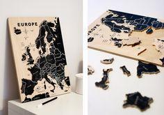 Chalkboard map jigsaw puzzle / UKKONOOA