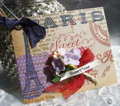 Paris Flea Market Inspired Collage Art Gift Tags set No.1 by Pearliebird on Etsy