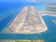 The Reef Runway - Honolulu International Airport (HNL). Try landing on this after five hours of flying over open ocean...