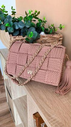 Puff Stitch Crochet, Bag Crochet, Crochet Handbags, Crochet Purses, Crochet Clothes, Crochet Stitches, Crochet Bag Tutorials, Crochet Videos, Crochet Projects