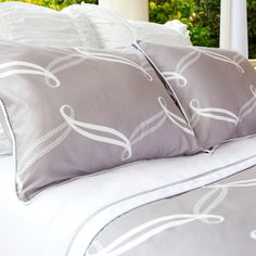 Great site for designer bedding | The Piper Gray Duvet Cover | Crane and Canopy