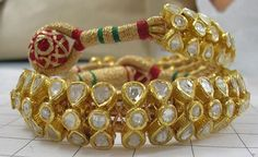 41 Ideas For Indian Bridal Bangles Gold Uncut Diamond Bridal Bangles, Gold Bangles, Royal Jewelry, Indian Jewelry, Gold Jewelry, Rajput Jewellery, Wedding Jewelry, Bridal Jewellery, Antique Jewellery