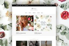 Aerin - WordPress Blog & Shop Theme by Creanncy on @creativemarket Wordpress Plugins, Wordpress Theme, Google Web Font, Video Installation, Immersive Experience, Header Image, Any Images, Best Web