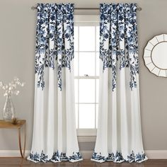 Lush Decor Tanisha Room Darkening Window Curtain Panel Pair in Navy and White (As Is Item) (Navy & White - x Blue Curtain Room, Cool Curtains, Rod Pocket Curtains, Grommet Curtains, Colorful Curtains, Hanging Curtains, Blackout Curtains, Window Curtains, Curtains Kohls