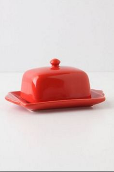 Anthropologie, Tea and Toast Butter Dish