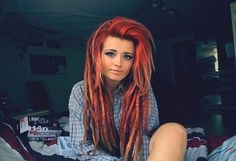Girl with dreads.