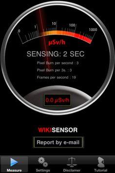 WikiSensor dosimeter - allows you to turn your Smartphone into an active radiation dosimeter.