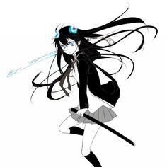 Rin (Ao no Exorcist) An No Exorcist, Blue Exorcist Anime, Rin Okumura, Black And Grey Hair, Gender Bender Anime, Rin Cosplay, Black Rock Shooter, Pretty Anime Girl, Magical Girl
