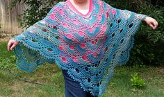 Crochet Virus Poncho : crochet picot and shell stitches it s a very easy pattern to crochet ...