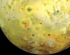 Composite Galileo image of Jupiter's volcanic moon Io