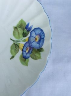 Blue Morning Glory, Farm House Colors, Etsy, Tableware, Floral, Cottages, Dreams, Dinnerware, Cabins