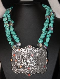 NFR Buckle Pendant Necklace $60 - I feel like this is something my cousin should make! Lindsey Evers