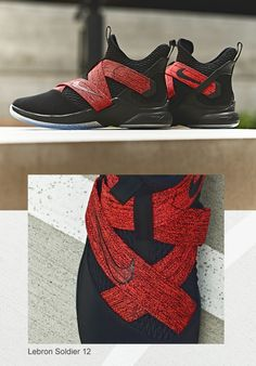 df74abbf9d4 Nike LeBron Soldier 12 Men s Basketball Shoes Black Red in 2019 ...